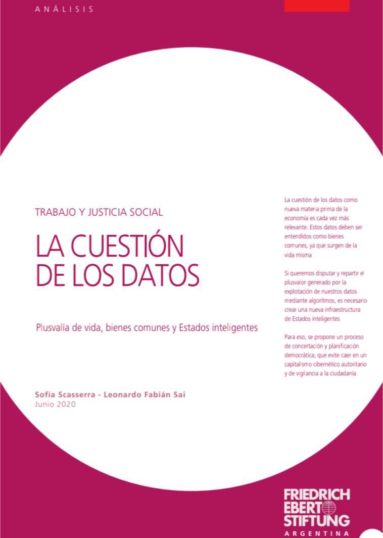 La cuestión de los datos: plusvalía de vida, bienes comunes y Estados inteligentes